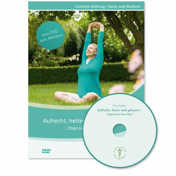 KVC Verlag – Aufrecht, heiter und gelassen, Yoga kennt kein Alter (DVD) mit Rita Keller